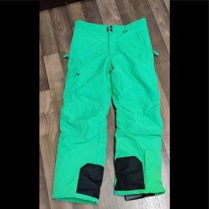 Slalom Boy's snow pants XL14/16 green